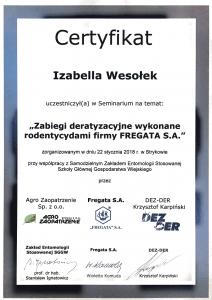 Zabiegi deratyzacyjne - Izabella Wesołek