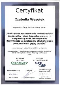 zastosowanie preparatów w dezynsekcji - Izabella Wesołek